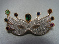SCS 1999 Masquerade Mask Brooch ~ Multi-Color