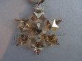2010 SCS Annual Edition Golden Snowflake / Star Christmas Ornament