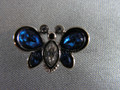 Blue Butterfly Tac Pin Brooch