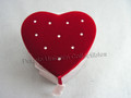 Red Heart Jewelry Trinket Box
