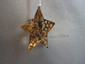Crystal Pixel Star Ornament ~ Golden Shadow