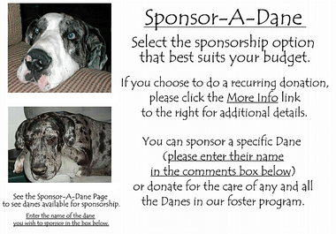 Please put the name of the Dane you would like to sponsor in the comments box.
