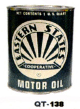 Eastern State Motor Oil Cans - Quantity Of Six Cans