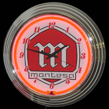 Montesa Motorcycle Neon Clock