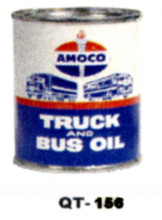 Amoco Truck & Bus Motor Oil Cans - Quantity Of Six Cans