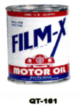 Film X Motor Oil Cans - Quantity Of Six Cans