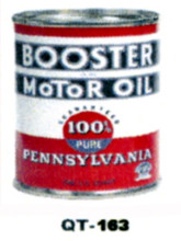 Booster 100% Motor Oil Cans - Quantity Of Six Cans