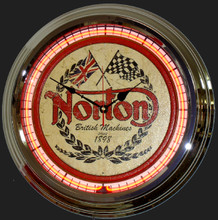 Norton Motorcycle Neon Clock
