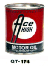 Ace High Motor Oil Cans - Quantity Of Six Cans
