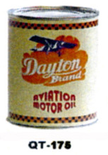 Dayton Aviation Motor Oil Cans - Quantity Of Six Cans