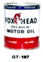Fox Head Premium Motor Oil Cans - Quantity Of Six Cans