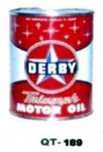 Derby Motor Oil Cans - Quantity Of Six Cans