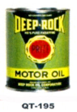 Deep Rock Motor Oil Cans - Quantity Of Six Cans