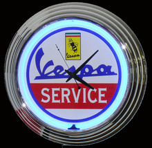 Vespa Scooter Neon Clock