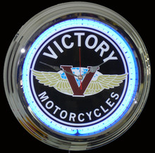 Victory Motorcycle Neon Clock