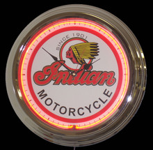 "Indian Motorcycle ""Classic Logo"" Neon Clock"