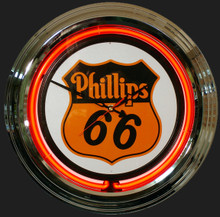 Phillips 66 Gas & Oil Neon Clock