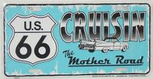 Cruisin Route 66 License Plate