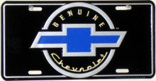 Genuine Chevrolet Black Face License Plate