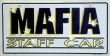 Mafia Staff Car License Plate