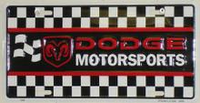 Dodge Motorsports License Plate