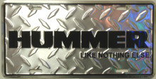 Hummer License Plate
