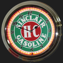Sinclair HC Gasoline Neon Clock
