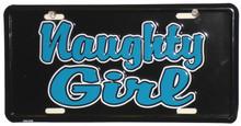 Naughty Girl License Plate