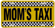 Moms Taxi License Plate