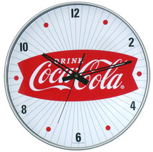"""Coca Cola Classic Logo 15"""" Wall Clock"""
