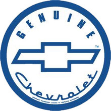 Chevrolet Genuine White Face Round Sign