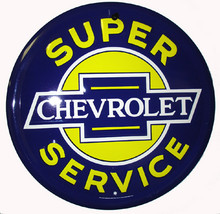 Chevrolet Super Service Round Sign