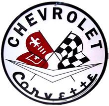 Corvette C1 Logo Classic Round Sign