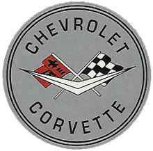 Corvette C3 Logo Grey Face Round Sign