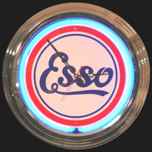 Esso Oil & Gasoline Neon Clock