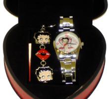 Betty Boop Round Watch & Braclete Set