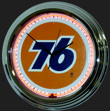 Union 76 Gasoline Neon Clock