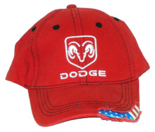 Dodge Ram Logo Red Cap