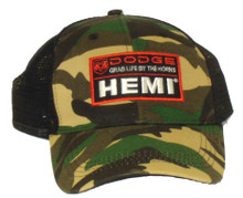 Dodge Hemi Camouflage Embroidered Logo Cap
