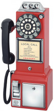 Pay Phone 1950's Style Red Color
