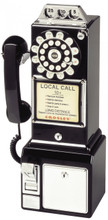 Pay Phone 1950's Style Black Color