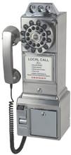 Pay Phone 1950's Style Brushed Chrome Finished
