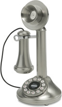 Candlestick Phone 1920's Brushed Chrome Finished