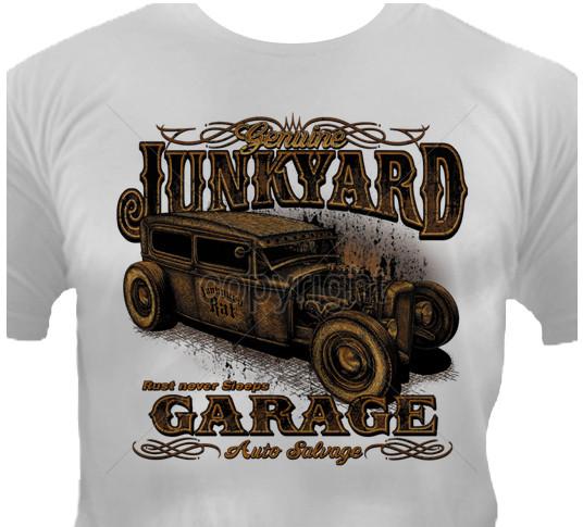 1177 Gris Hot Rod Rockabilly Vintage American Kustom Garage Car Auto T-Shirt