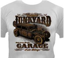 Junkyard Garage Hot Rod T-Shirt