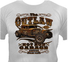 Outlaw Hot Rod Garage T-Shirt