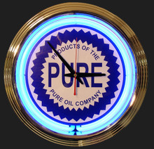 Pure Oil & Gasoline Neon Clock