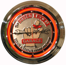 Busted Knuckle Garage Neon Clock