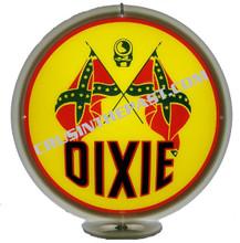 Dixie Gasoline Gas Pump Globe