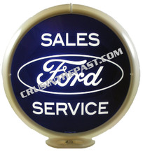 Ford Sales & Service Gas Pump Globe
